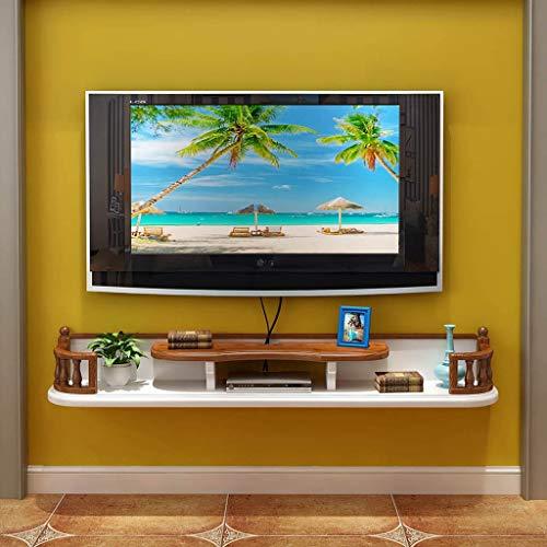 JTQMDD Armazón de pared Mueble de televisión Estante para televisor Estante para televisor Estante para televisor Unidad de almacenamiento de consola flotante Estante para estante de almacenamiento Ca