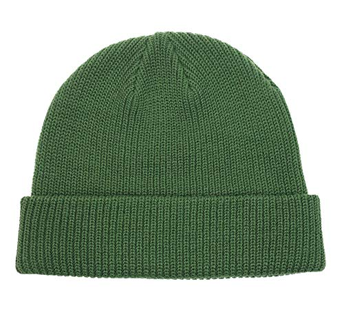Connectyle Classic Men's Warm Winter Hats Acrylic Knit Cuff Beanie Cap Daily Beanie Hat (Army Green)