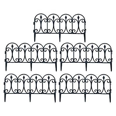 DETTELIN 10pcs Decorative Garden Fence Lawn Border Edging Barrier, Removable Plastic Fence for Garden Outdoor Lawn Courtyard Wedding Decoration