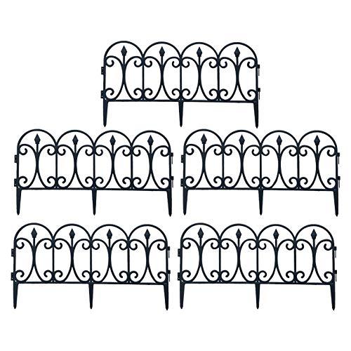 Bordature Da Giardino Per Aiuole, Bordura Per Aiuole Con Picchetti, Recinzione Per Aiuole In...
