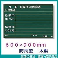 危険予知活動表 KYボード 防雨型 600×900mm 木製 320-10A (レインマーカー付)