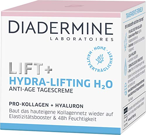 DIADERMINE Lift+ Hydra-Lifting Tagespflege Tagescreme H2O, Straffende Anti-Age Pflege, 1er Pack (1 x...