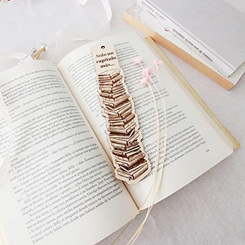 Marcapáginas de libro de Madera. Regalos Especiales Para Hombres, Mujeres, Estudiantes y Maestros, Lectores y amantes de la lectura