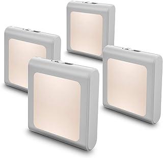 MAZ-TEK Plug in Dimmable Led Night Light with Auto Dusk to Dawn Sensor, Soft Warm White Nightlights for Hallway,Bedroom, K...