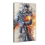 Póster de lona de juegos electrónicos Battlefield 9, decoración de dormitorio, deportes, paisaje, oficina, habitación, regalo, 50 x 75 cm, marco1