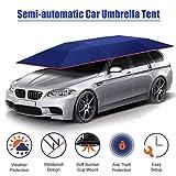 Xljh Carpa para Auto Cubierta Semiautomática automática con Control Remoto portátil Parasol Parasol para Coche Cubierta para Techo Exterior Kits de protección UV