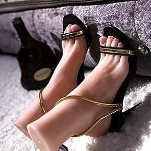 ルールー・足模型 最新版 リアル 1:1 実物大 清純・女の子 女性 フート モデル シリコン製・骨絡付き選択可能・爪付属」撮影 商品販売 教学用 靴のサイズ220 MF002 (骨絡付属なし, 右足)