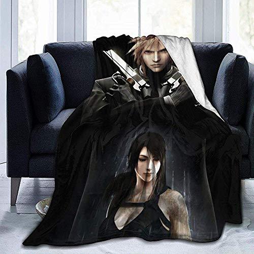 Fleecedecke Final Fantasy Vi Advent Kinder Ffvii Cloud Strife Tifa Lockhart Bettwäsche Weiches Sofa Warme Yogamatten Decken