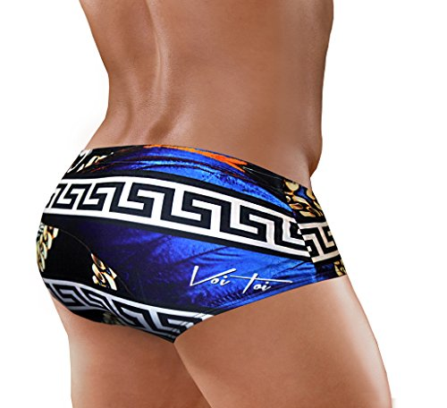 Danny Miami Men's Swimwear – Swim Briefs – Designer Bikini Swimsuit with Short Low Rise Trunk Cut – Made in USA – New