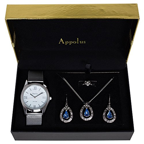 Applause watch, neckless, earrings gift set