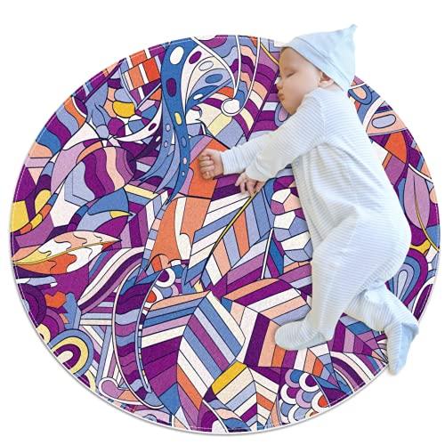 Alfombra redonda antideslizante absorbente alfombra de yoga para entrada, dormitorio, sala de estar, sofá, decoración del hogar, 70/80/100 cm