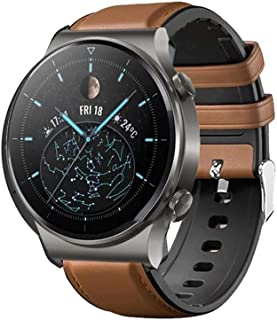 Dado Silicone Leather Replacement band for Huawei GT2 PRO watch , Brown color strap