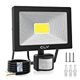 CLY 30W Security Lights, LED Floodlight with Motion Sensor, 75W HPS Lights Equivalent Replaced, Daylight White 3000 Lumen IP66 Waterproof Security Light,Outdoor Flood Lights Sensor Light