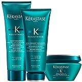 Kerastase Resistance Bain Therapiste Shampoo 250ml, Masque Therapiste 200ml and Soin Premier Therapiste 200ml