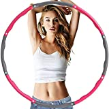 Faraone4w Weighted Hula Hoop for Adults,weighted hula hoops for fitness,Sponge Hula Hoop Beginner weighted hula hoop for Fitness for Weight Loss/Abdominal Shaping/Home/Office 8-section Detachable