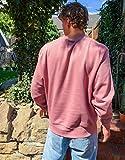 コリュージョン スウェット トレーナー メンズ COLLUSION sweatshirt in dusty pink [並行輸入品]