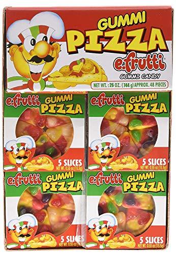 Gummi Pizza by E-Fruitti 48 Count (Net Wt. 26oz) (2 Pack)