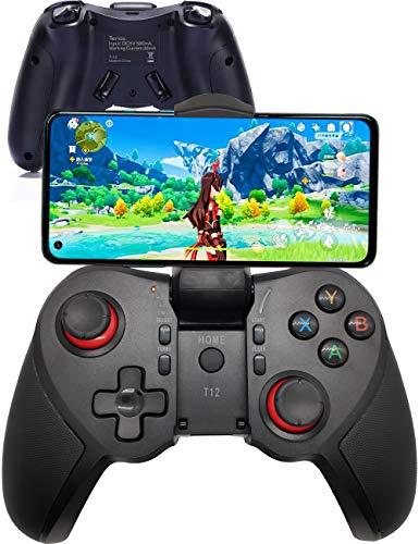 COWBOX Android コントローラー アンドロイド PUBG コントローラー 日本語取扱説明書 Bluetooth コントローラー ワイヤレス モバイル コントローラー スマホコントローラー スマホ ゲームコントローラー フォートナイト 第五人格 COD 対応可能 android ゲームパッド (t-12)