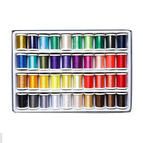 40 kleuren naaimachine draad gebruikt Huishoudelijke Multi kleuren Handmatige draad naaien draad, groot volume naaien draad, borduurwerk draad machine te naaien katoen draad