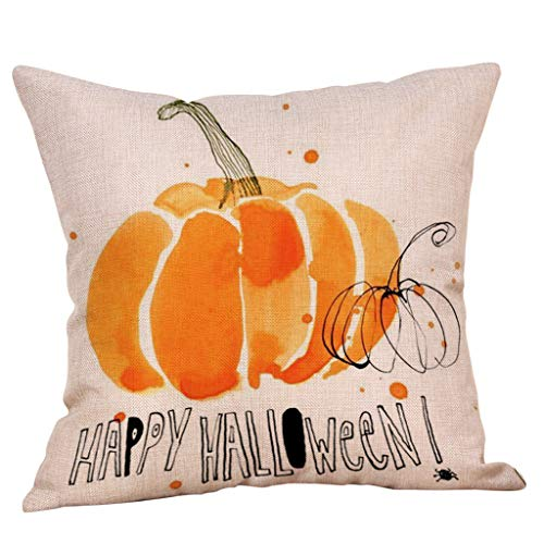 Arystk Halloween Pumpkin Pillow Case Fall Waist Throw Cushion Cover Sofa Home Decor