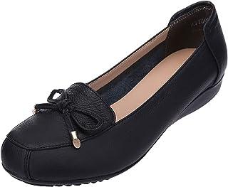 Jamron Femmes Cuir Véritable Chaussures de Confort Semelle Souple Ballerines Bas Talon Compensé Chaussons