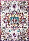 axnx Alfombras para Sala De Estar Alfombra De Piso Floral Absorbente Antideslizante Bohemio Turco Retro Alfombras 120X160Cm Color6