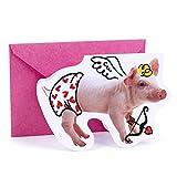 Hallmark Shoebox Funny Valentine's Day Card (Cupid Pig)