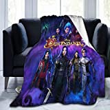 Descendants 3 Throw Blanket Digital Printed Ultra-Soft Micro Fleece Blanket,Warm, Lightweight, Versatile for All Seasons, Perfect for Bed Sofa Couch 50'x40'