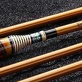 xihongshi Caña de Pescar, Caña de Pescar Ultraligera Súper Dura de 37 Tonos, Caña de Pescar de Carbono con caña de Mano, Caña de Pescar de bambú, Caña de Pescar telescópica, Hecho a Mano 3.9M