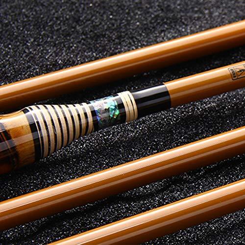 xihongshi Canna da Pesca, Canna da Pesca Ultra-Light Super Hard 37-Tone, Canna da Pesca in Carbonio a Mano, Canna da Pesca in bambù, Canna da Pesca telescopica, Fatto a Mano 3.9M