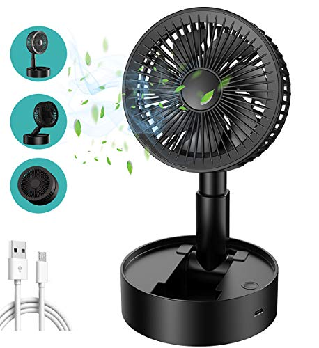 Babacom Mini Ventilador De Escritorio Portátil Plegable Tipo De Almacenamiento Pequeño Ventilador Inalámbrico USB De Oficina