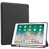 MoKo Funda para Apple iPad 9.7 2018, Cubierta Port├бtil Genuino Estuche Plegable con Ranuras para Tarjeta de Documento Smart Cover para Apple iPad 9.7' 2018 Tableta (A1893 / A1954), Negro