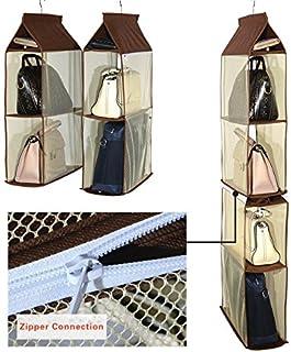 Organizador de armario ropero para colgar compuesto por 4 compartimentos desmontables transparentes ahorro de espacio p...