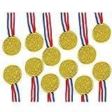 TRIXES 12 Plastique Or Vainqueurs Médailles - Thème Sport Day / Récompenses