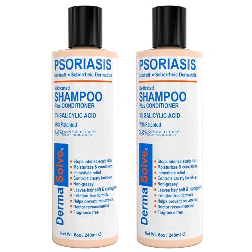 Scalp Psoriasis Shampoo & Conditioner (2-pack) Naturally Heals Dandruff Seborrheic Dermatitis Itchy...