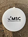 Marine Speaker Covers 6.5 inch | Sold As Pair | Sun, Water, Dust Protection | Patented, Military-Grade Silicone Design | Black Logo