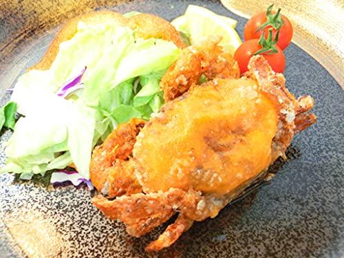 ソフトシェルクラブ 1kg (70g-100g) 約10尾から12尾入り 殻ごと食べられる カニ ・ソフトシェルクラブ・