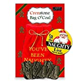 Crenstone Santa's Naughty List Gift Set: Lump of Coal in Gift Bag & Naughty List Button