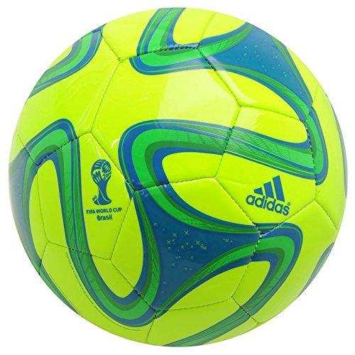 Adidas Glider Football Brasil Copa Mundial de Fútbol de la FIFA Construcción de 32 paneles, Mehrfarbig - Brazuca Slime