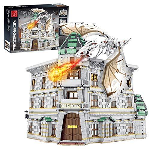 Mocdiy Bloques de construcción de gas angular, construcción modular, arquitectura DIY, modelo de construcción, 4185 piezas, bloques de sujeción, compatible con Lego 75978 Harry Potter Diagon Alley