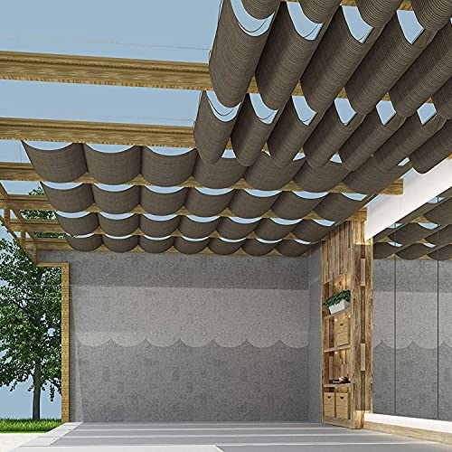TANG Pergola Shade Cover Retractable Replacement Awning Canopy Shade Cover for Deck Porch Patio...