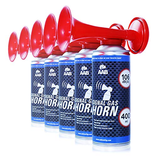 AABCOOLING Signal Gas Horn 400ml - Extraordinaire Corne de Brume Supporter de Air Comprimée, Klaxon de Bateau, Klaxon a Air Comprimé, Vuvuzela, Corne de Brume Bateau