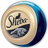 Sheba Feine Filets, Getreidefreies Nassfutter für Katzen als besonderer Snack, Köstliche Filets in eigenem Saft, Thunfisch, 24 x 80 g
