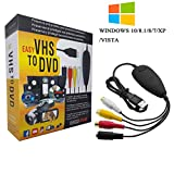 Best VHS To DVD Converters - VHS to Digital Converter for Windows 10, USB2.0 Review