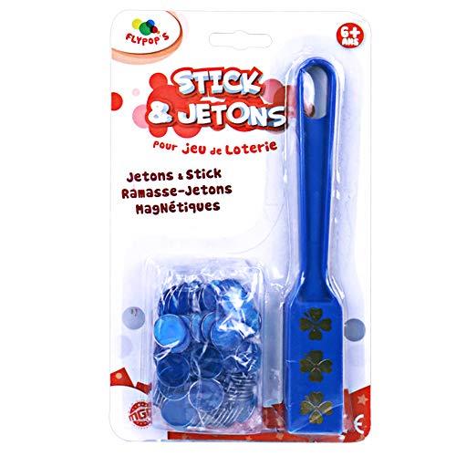 Flypop's - Stick et jetons magnétiques pour Jeu de loterie - 141111 - Plastique - À Partir de 6 Ans