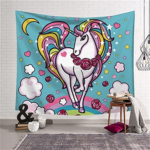 YYRAIN Color Animal Hogar Tapiz De Pared Sala De Estar Dormitorio Arte De La Pared Decoración Regalo Tapiz Ropa De Cama Colcha 59x59 Inch{150x150cm} B