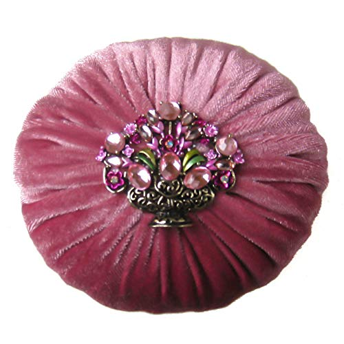 Fantastic Deal! Nakpunar 4 Mauve Pink Velvet Emery Pincushion - Keep Your Needles Clean & Sharp (4...