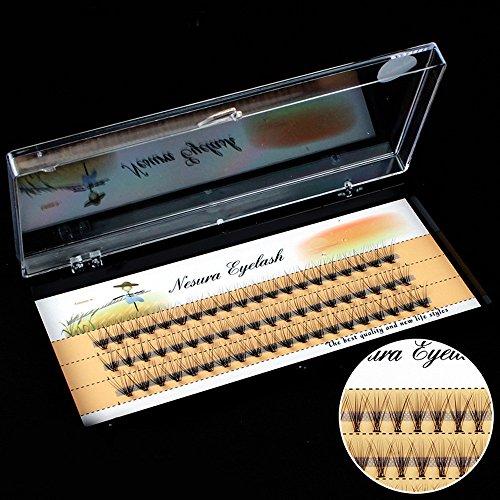 Ciglia finte lunghe 6/8/10 / 12mm spesse Ciglia finte Ciglia nere (1 scatola,10mm)