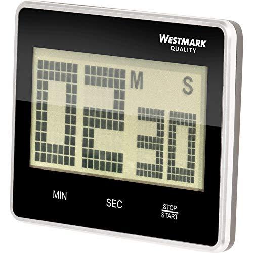 Westmark Kurzzeitmesser/Küchentimer, digital, magnetisch, bis 99 Minuten, Kunststoff, Big, Anthrazit/Silber, 10912280