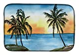 Caroline's Treasures 8551DDM Palm Tree Dish Drying Mat, 14 x 21', multicolor